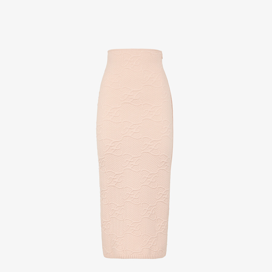 FENDI SKIRT - Pink wool and cashmere skirt - view 1 detail