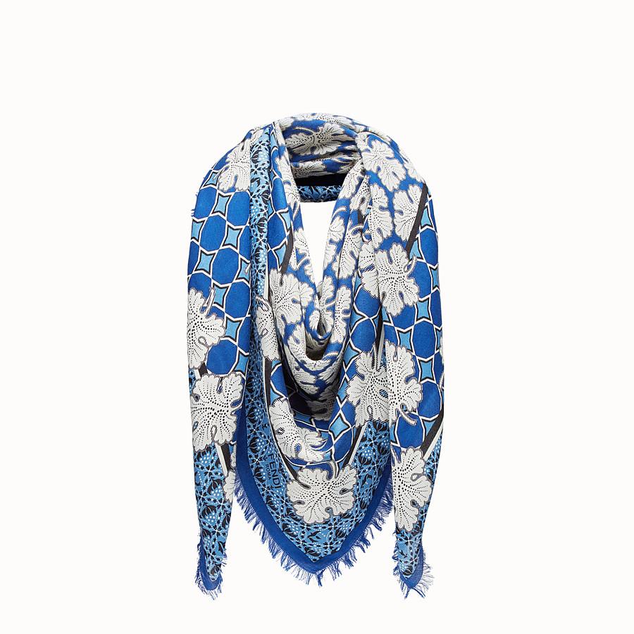 FENDI SCIALLE FENDI HERITAGE - Scialle in seta e lana multicolor - vista 1 dettaglio