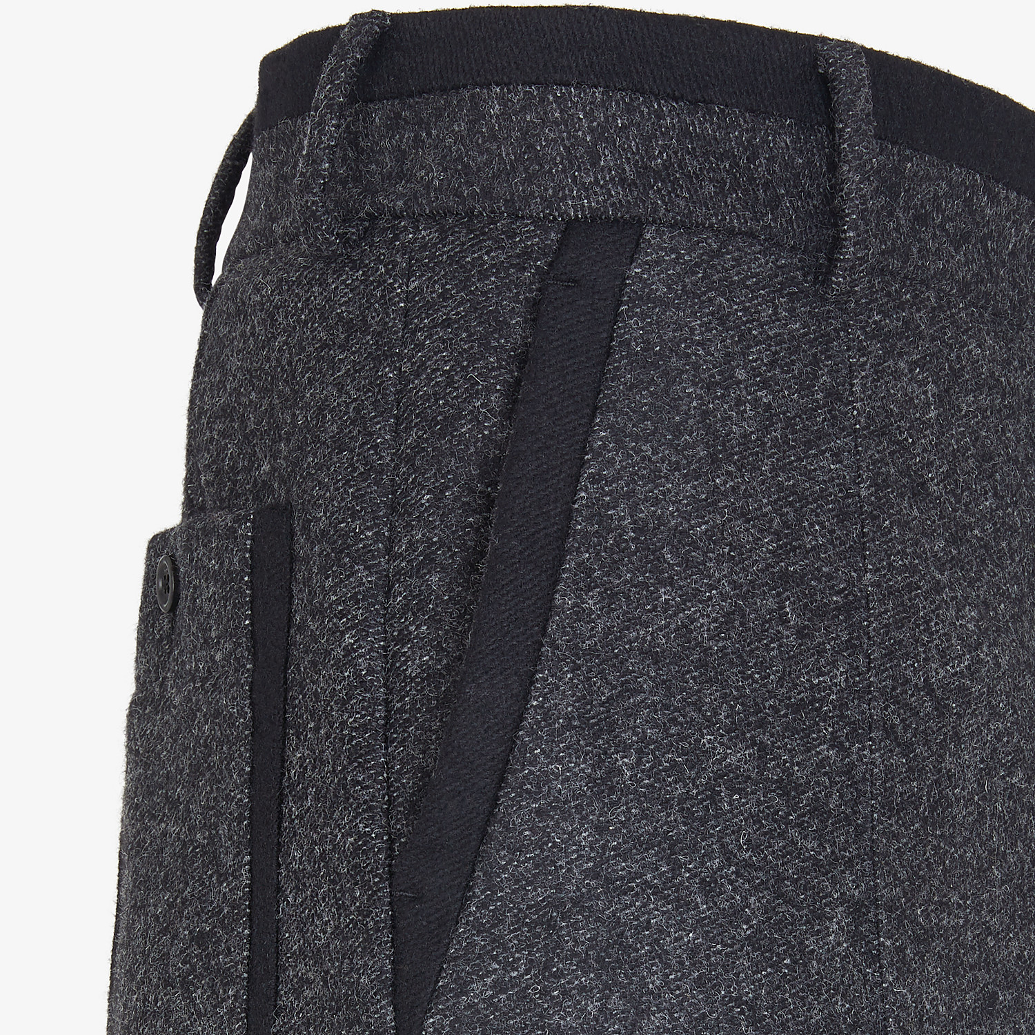 FENDI PANTS - Gray wool pants - view 3 detail