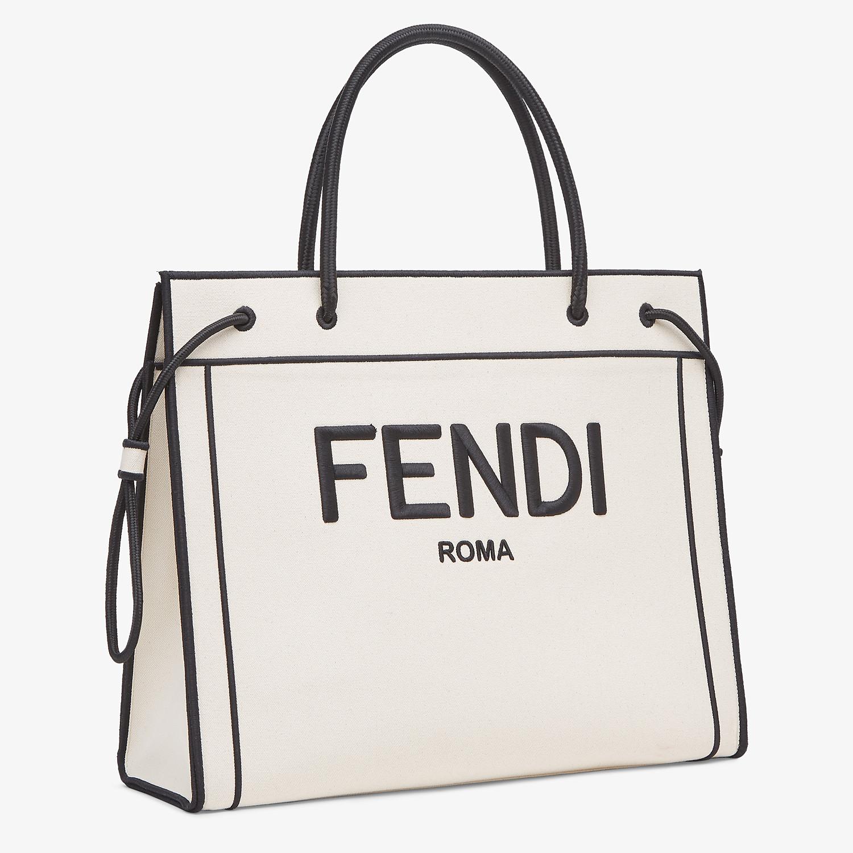 FENDI SHOPPER FENDI ROMA GRANDE - Bolso shopper de lona natural - view 3 detail