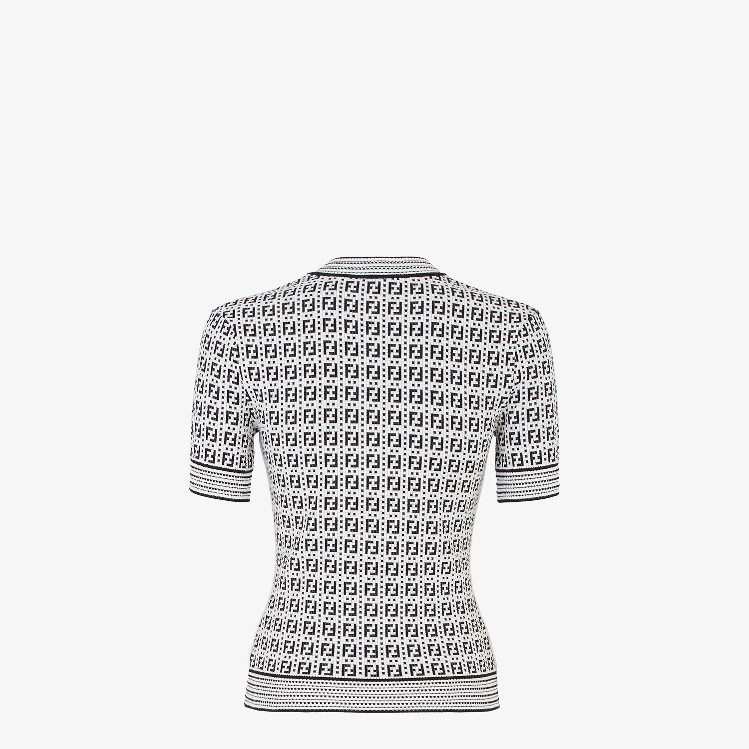 FENDI SWEATER - White viscose sweater - view 2 detail