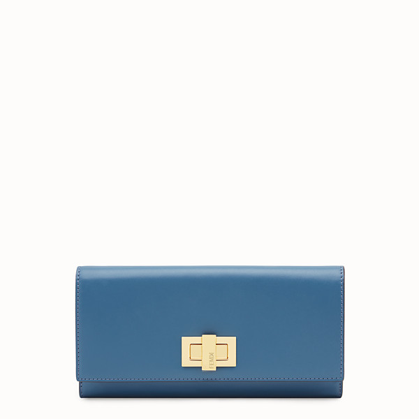 FENDI CONTINENTAL - Blue leather wallet - view 1 small thumbnail