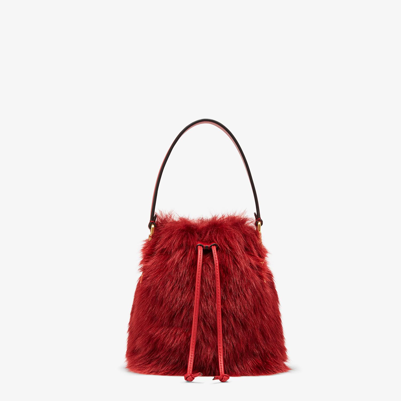 FENDI MON TRESOR - Minibag in montone rosso - vista 1 dettaglio