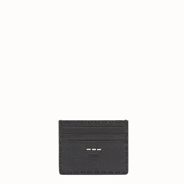 FENDI CARD HOLDER - Selleria 6-slot card holder in black - view 1 small thumbnail