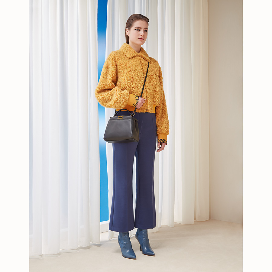 FENDI TROUSERS - Blue fabric trousers - view 4 detail