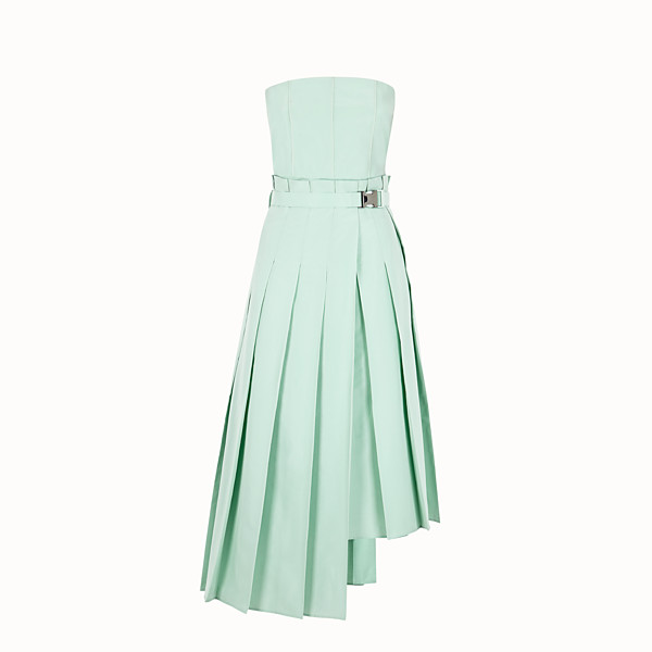 FENDI DRESS - Green faille dress - view 1 small thumbnail