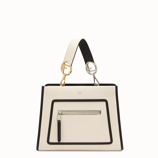 FENDI RUNAWAY SMALL - Sac en cuir blanc - view 1 small thumbnail