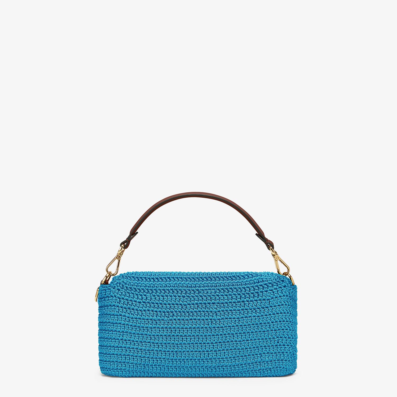 FENDI BAGUETTE - Blue cotton crochet bag - view 3 detail