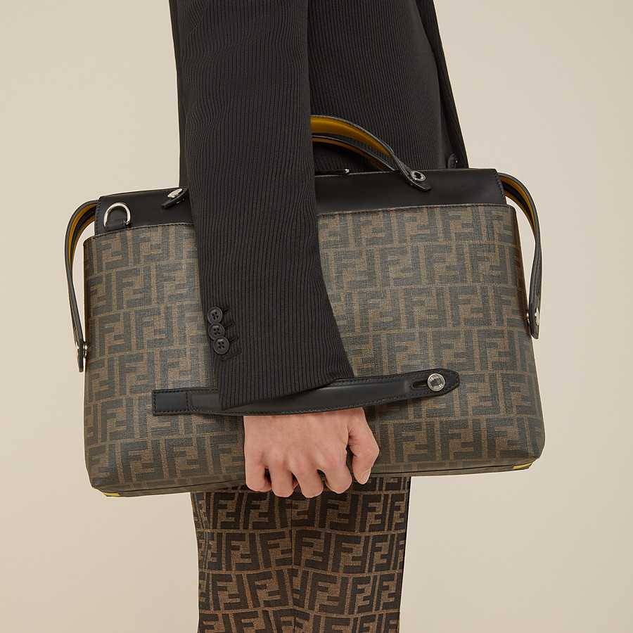 FENDI BY THE WAY - Brown fabric bag - view 5 detail