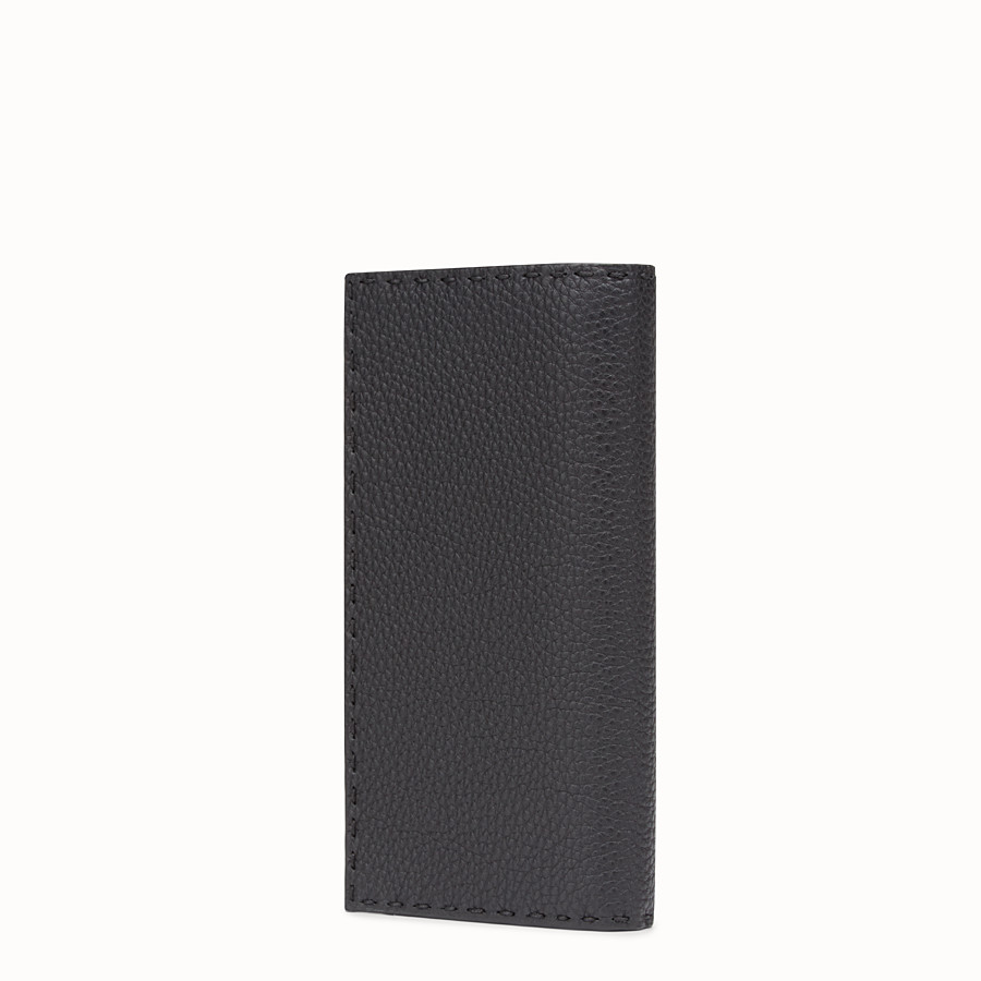FENDI WALLET - Continental black Roman leather - view 2 detail