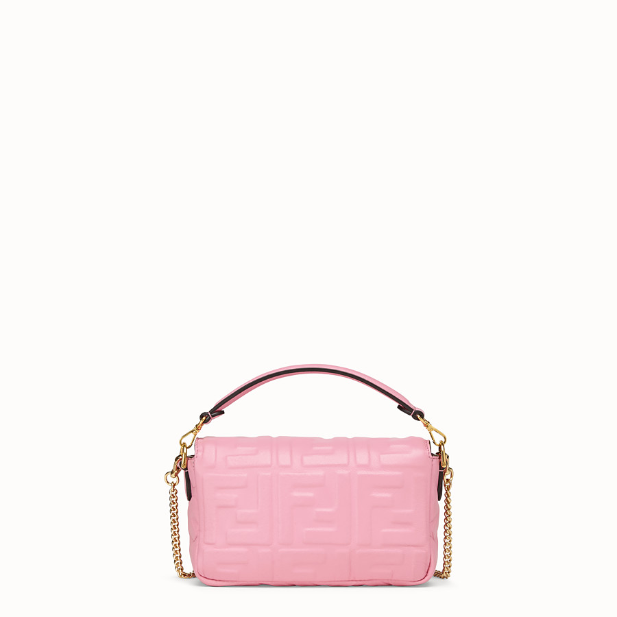 FENDI BAGUETTE - Pink nappa leather bag - view 4 detail
