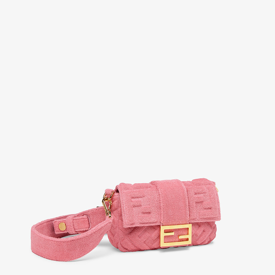 FENDI BAGUETTE - Pink terrycloth bag - view 3 detail