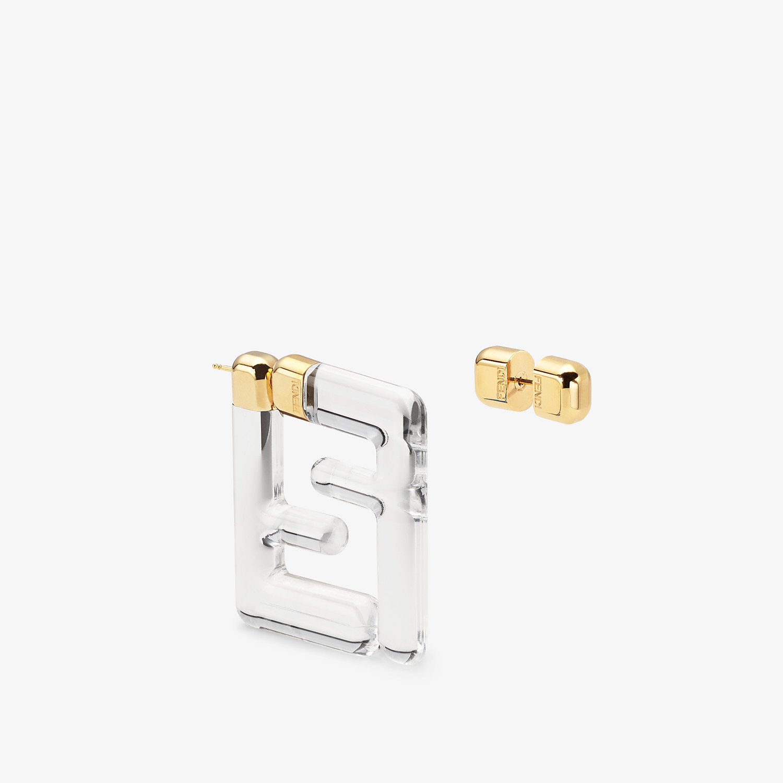 FENDI FF EARRINGS SMALL - Transparent plexi earrings - view 2 detail