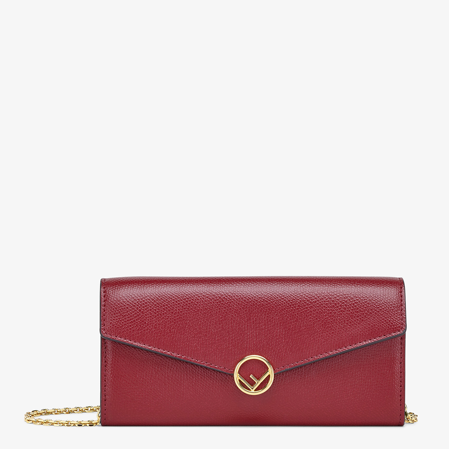 FENDI CONTINENTAL WITH CHAIN - Burgundy leather wallet - view 1 detail