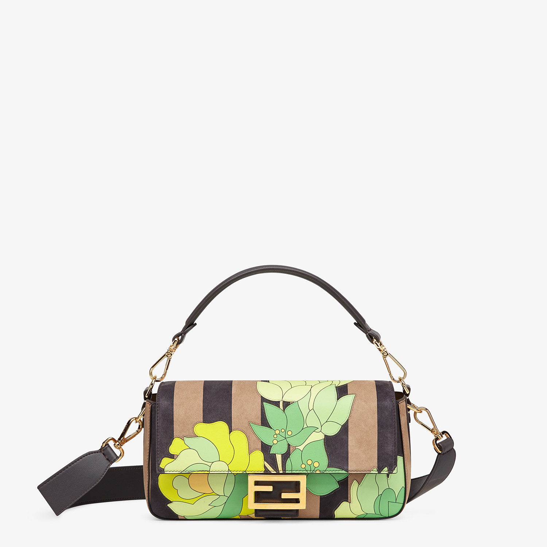 FENDI BAGUETTE - Brown nubuck leather bag - view 1 detail