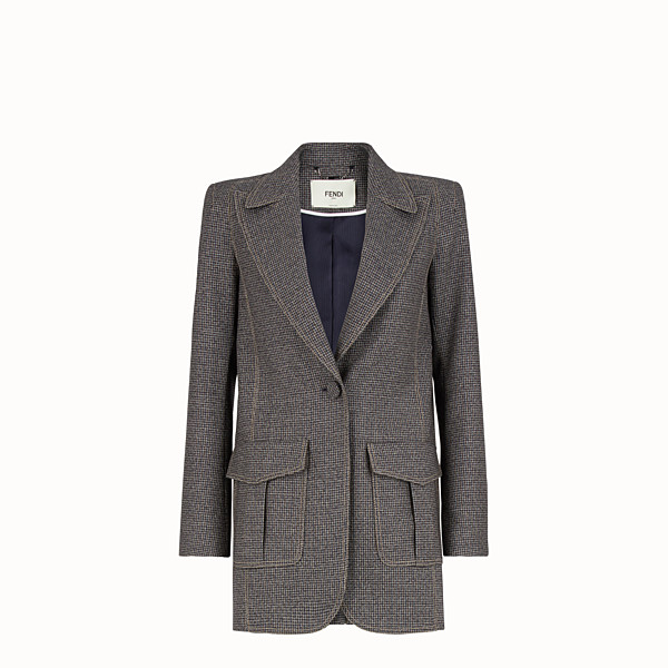 FENDI JACKET - Micro-check wool blazer - view 1 small thumbnail