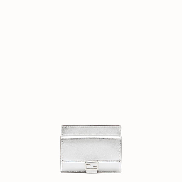 FENDI CARD HOLDER - Silver leather cardholder - view 1 small thumbnail