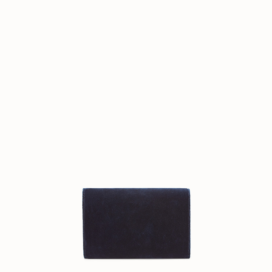 FENDI WALLET ON CHAIN - Blue velvet mini-bag - view 3 detail