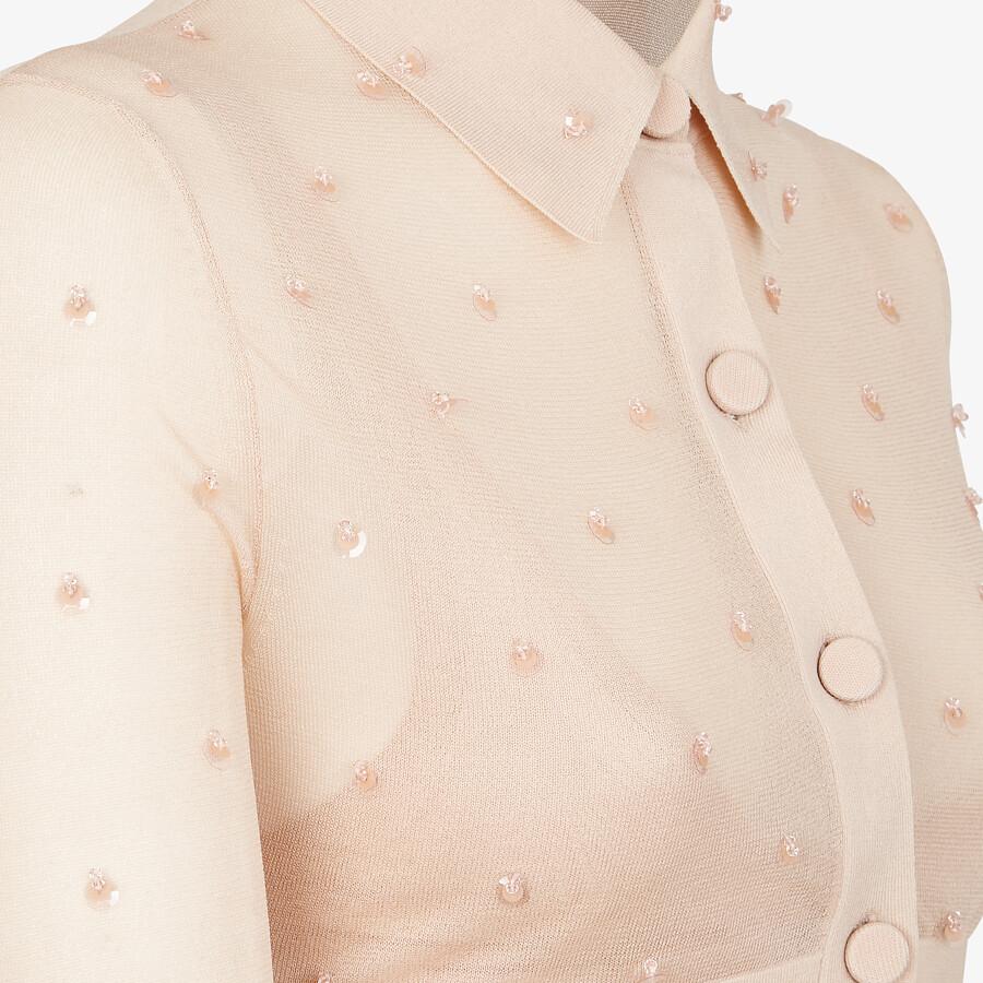 FENDI CARDIGAN - Pink silk cardigan - view 3 detail
