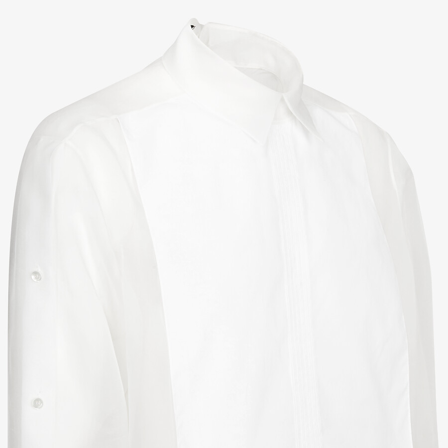 FENDI SHIRT - White organza shirt - view 3 detail