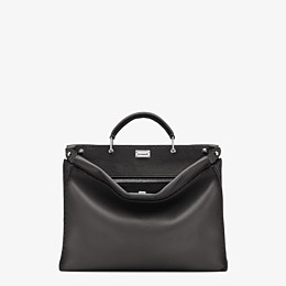 FENDI PEEKABOO ICONIC FIT - Black leather bag - view 1 thumbnail