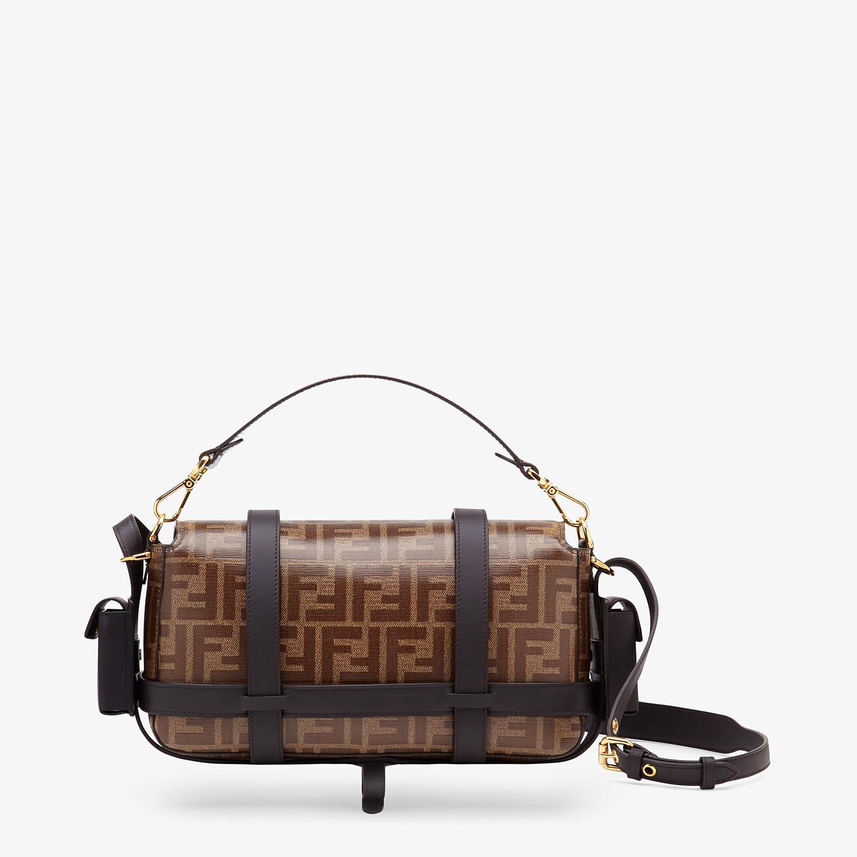 FENDI BAGUETTE CAGE - Brown fabric bag - view 5 detail