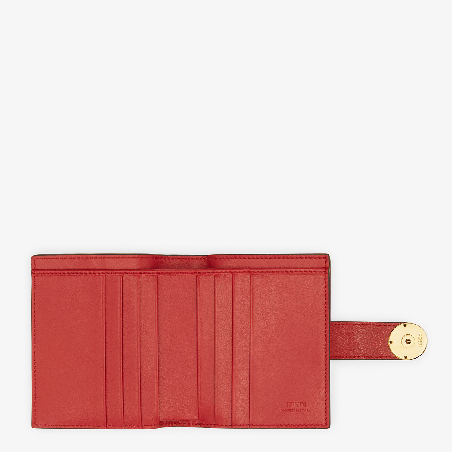 FENDI BIFOLD - Red leather compact wallet - view 5 detail