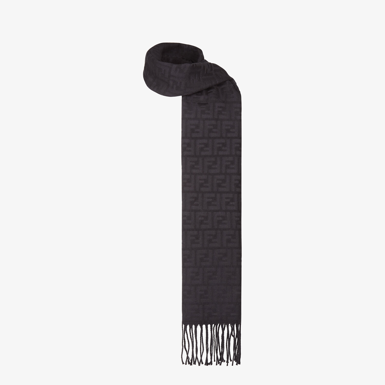 FENDI SCARF - Black silk scarf - view 2 detail