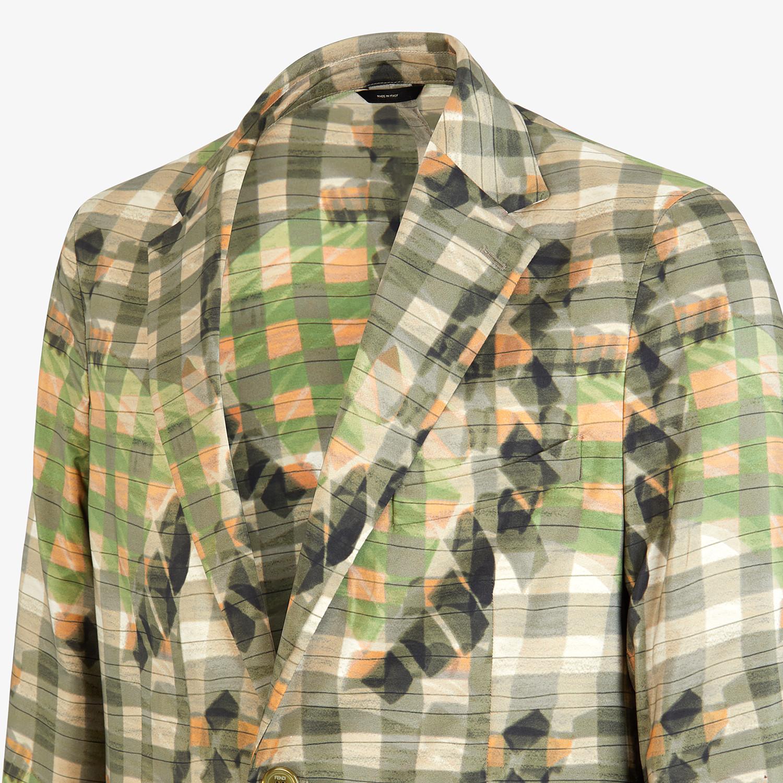 FENDI JACKET - Multicolor silk blazer - view 4 detail