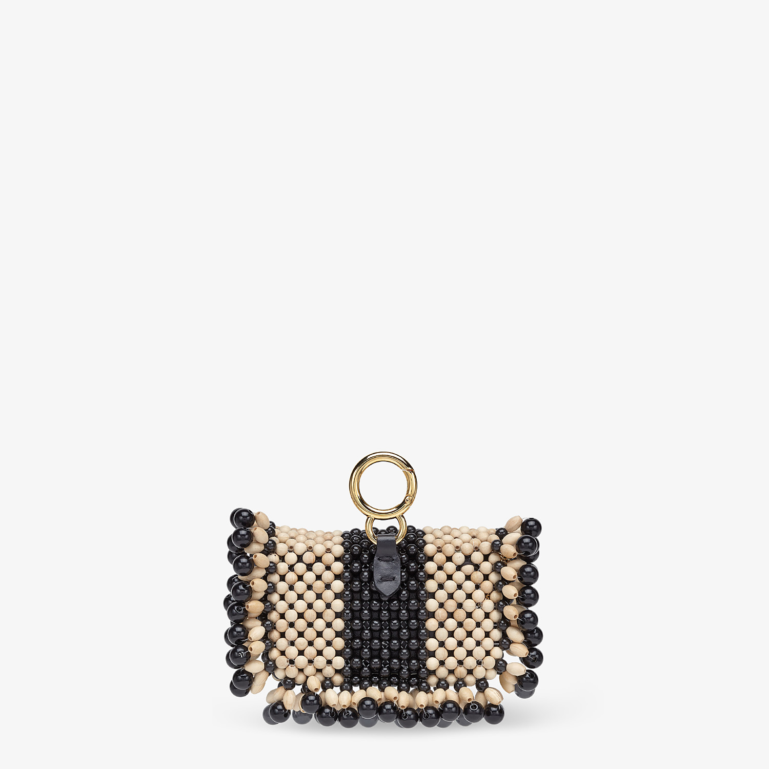 FENDI NANO BAGUETTE CHARM - Charm with beige beads - view 3 detail