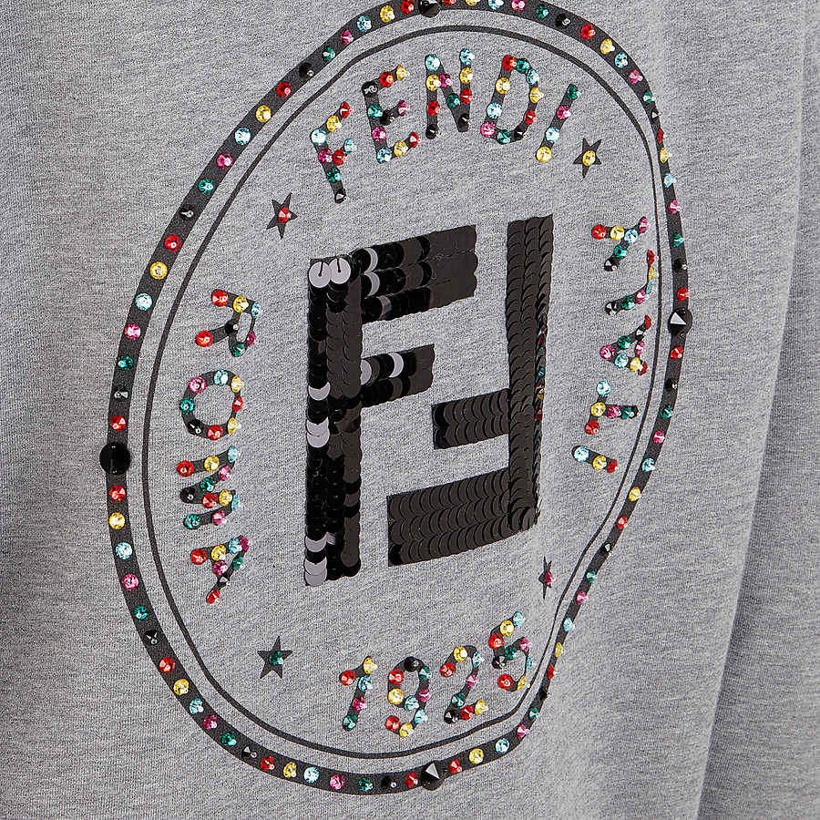 FENDI SWEATSHIRT - Grey cotton sweatshirt - view 4 detail