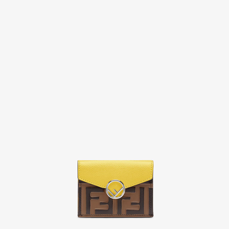 FENDI MICRO TRIFOLD - Yellow leather wallet - view 1 detail