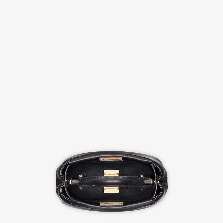 FENDI PEEKABOO ICONIC XS - Black nappa leather bag - view 5 detail