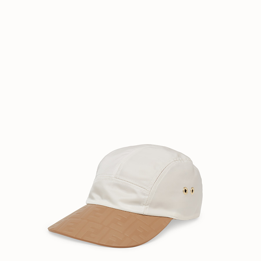 FENDI HAT - White tech fabric baseball cap - view 1 detail
