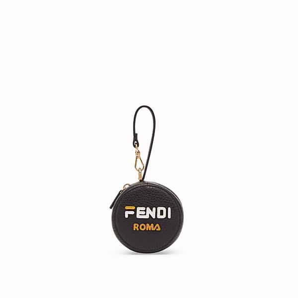 FENDI BIJOU DE SAC CABAS - Bijou de sac en cuir noir avec cabas en tissu - view 1 small thumbnail