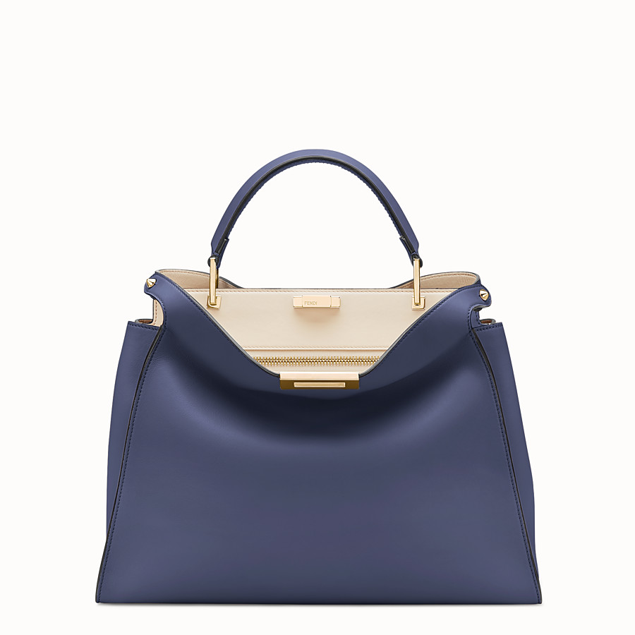 FENDI PEEKABOO ESSENTIAL - Blue leather bag - view 1 detail