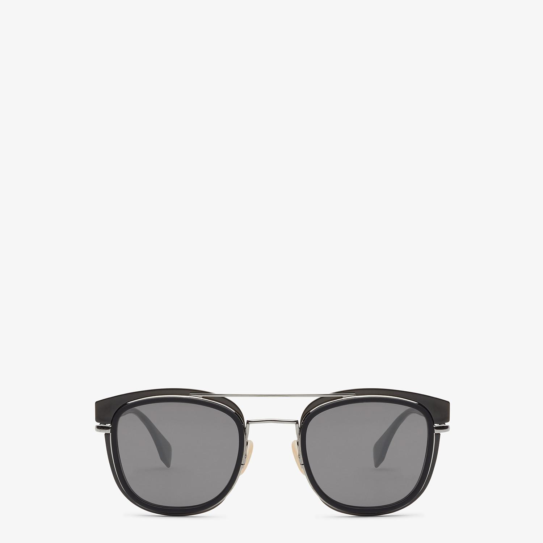 FENDI FENDI GLASS - Dark gray and dark ruthenium sunglasses - view 1 detail