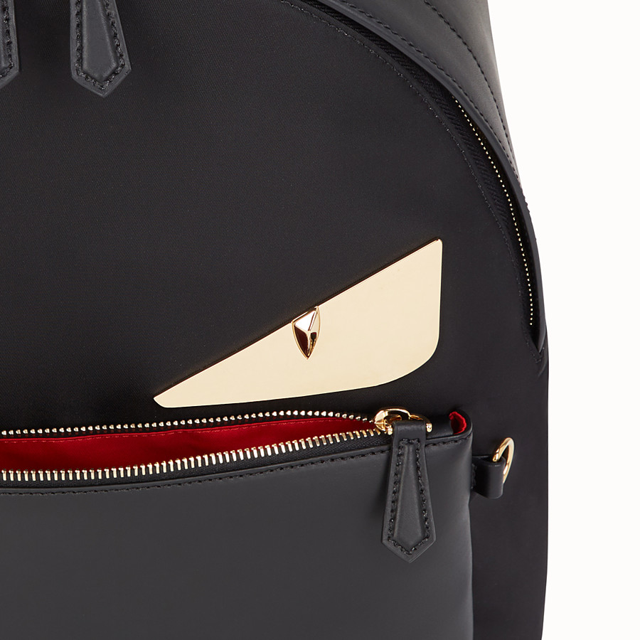 FENDI BACKPACK - Black nylon backpack - view 4 detail