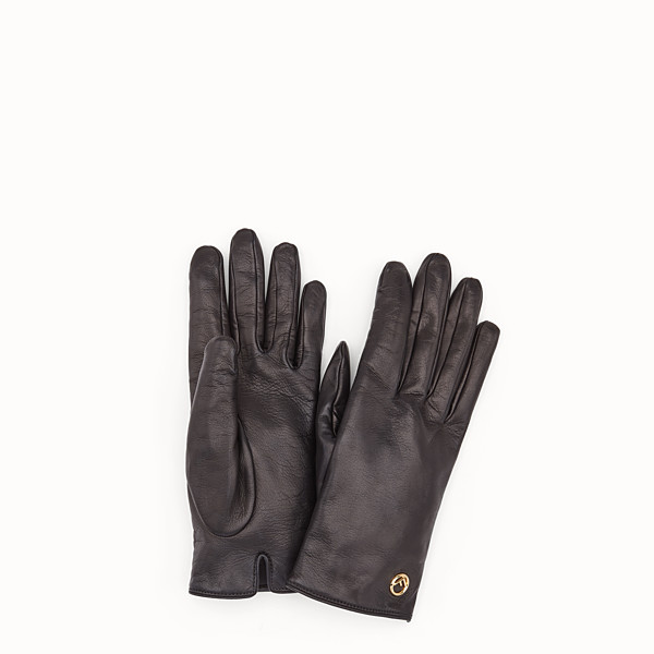 FENDI GANTS - Gants en cuir nappa noir - view 1 small thumbnail