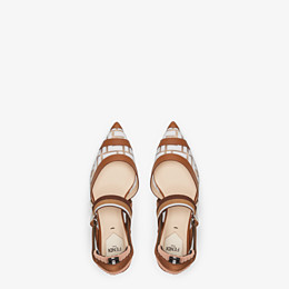 FENDI SLINGBACKS - Colibrì in PU and white leather - view 4 thumbnail