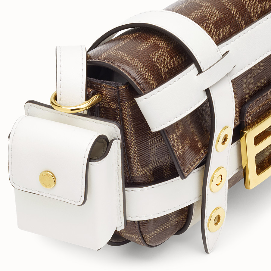 FENDI BAGUETTE MINI CAGE - Multicolour leather and fabric bag - view 7 detail