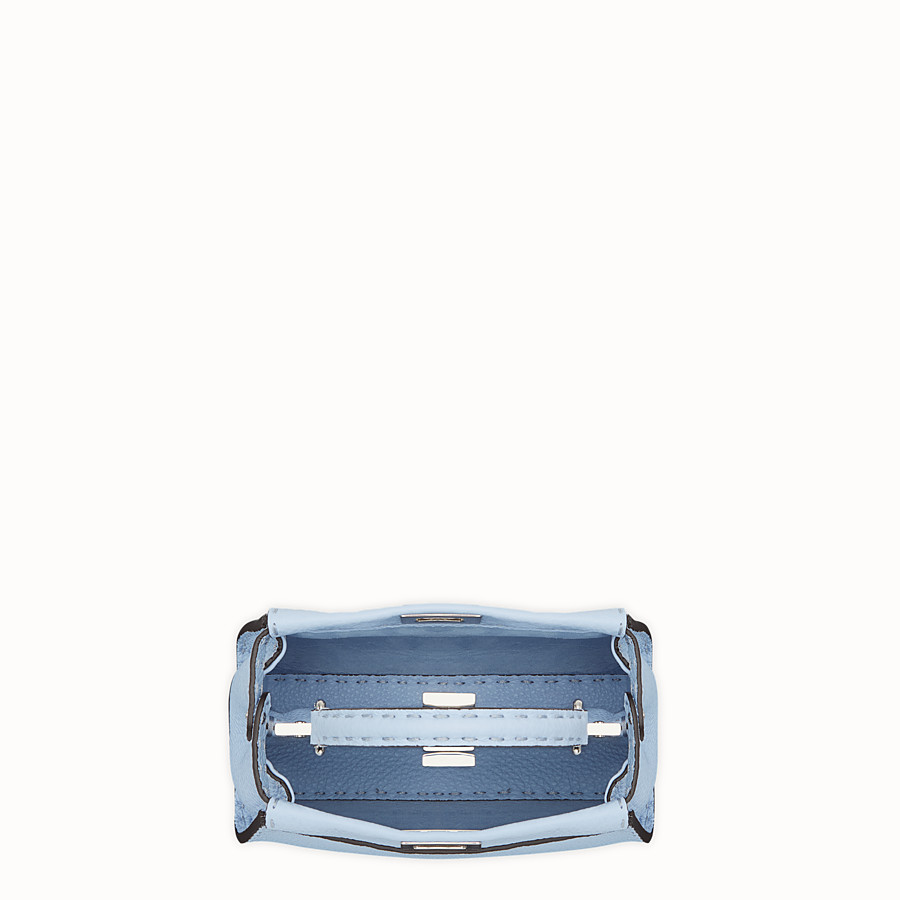 FENDI PEEKABOO MINI - Light blue leather bag - view 4 detail