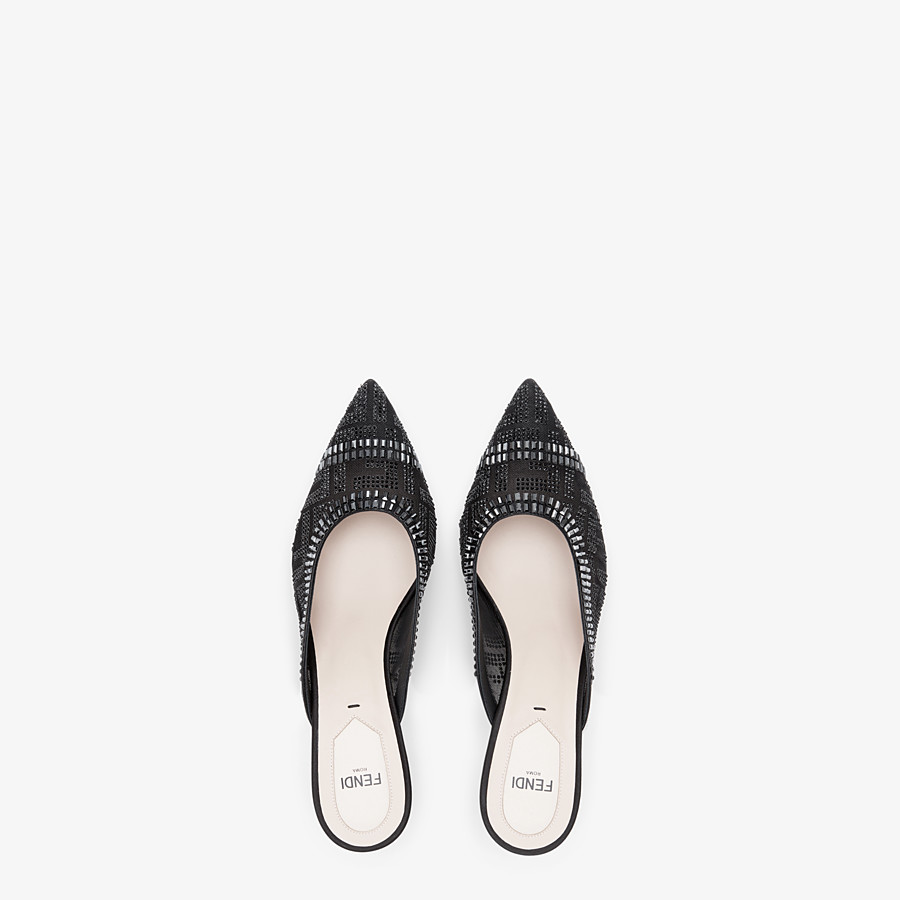 FENDI SLINGBACK - Colibrì en filet et cuir noir - view 4 detail