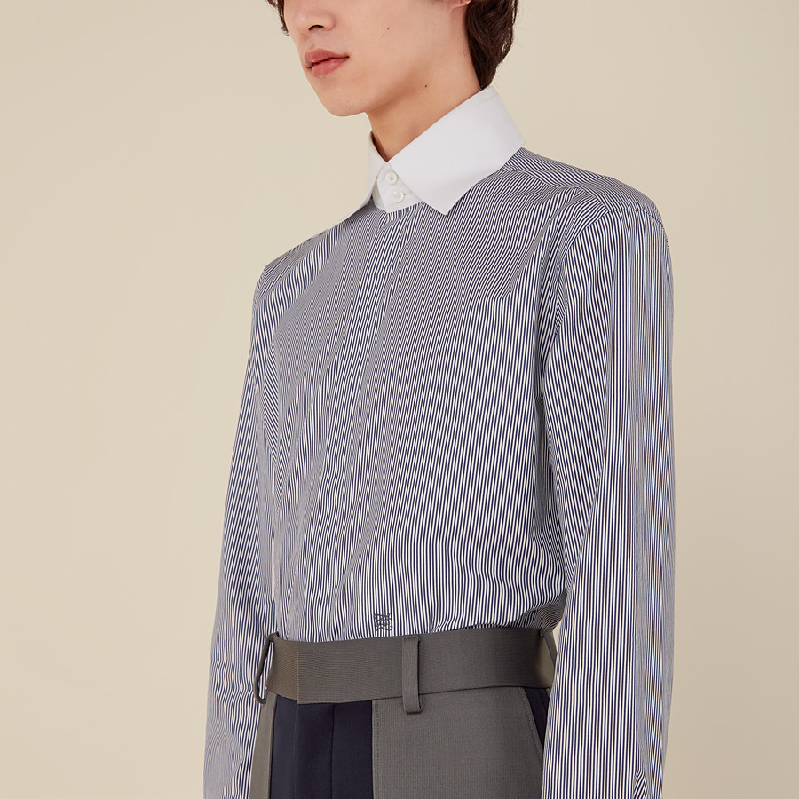 FENDI SHIRT - Blue cotton shirt - view 4 detail