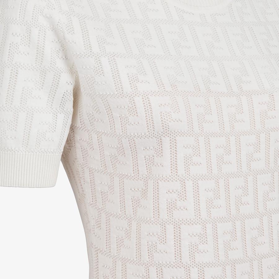 FENDI KLEID - Kleid aus Baumwolle Weiß - view 3 detail