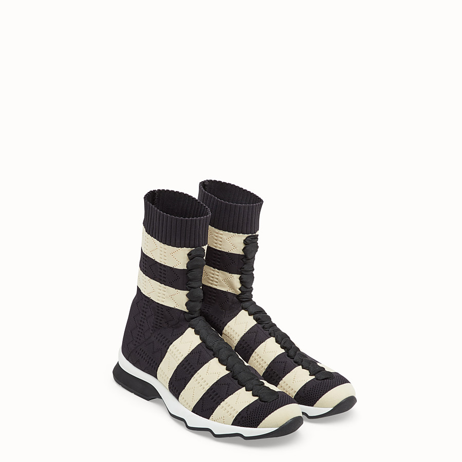FENDI SNEAKERS - Multicolour fabric sneakers - view 4 detail