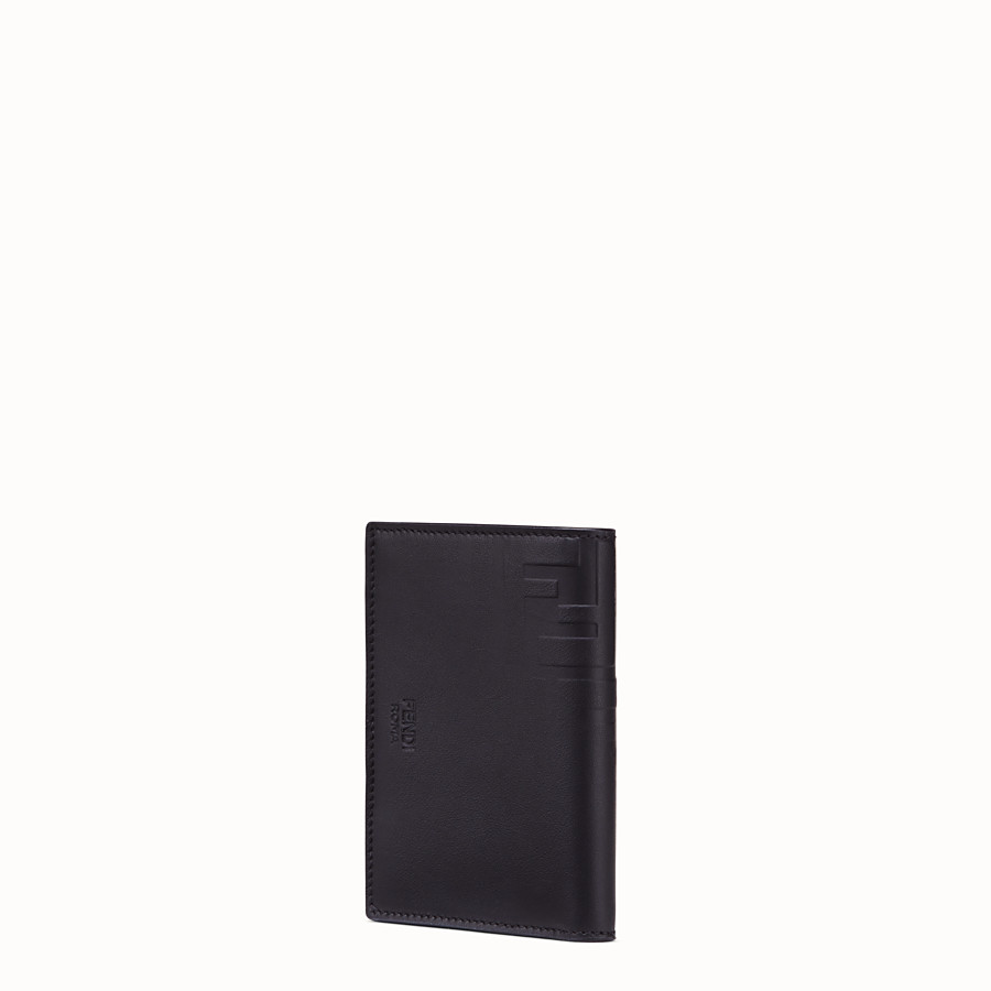 FENDI VERTICAL CARD HOLDER - Black calf leather wallet - view 2 detail