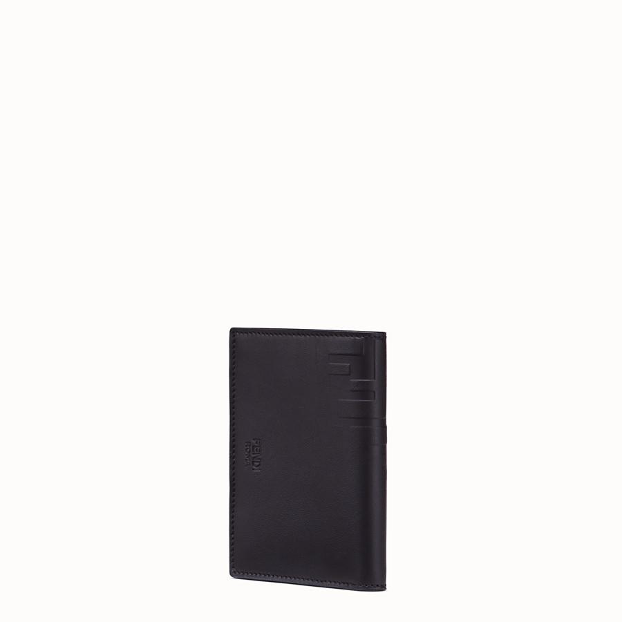 FENDI VERTICAL CARD HOLDER - Black calfskin wallet - view 2 detail