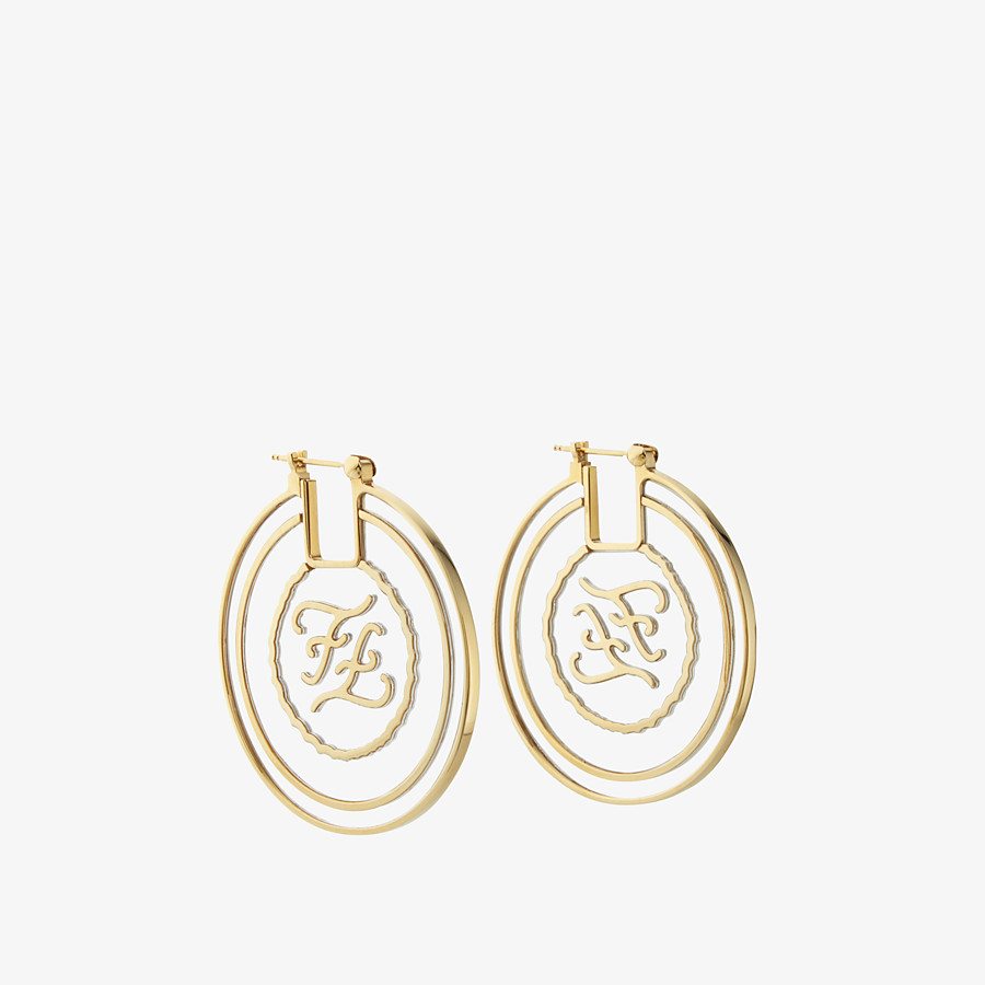 FENDI KARLIGRAPHY EARRINGS - Gold-colour earrings - view 1 detail