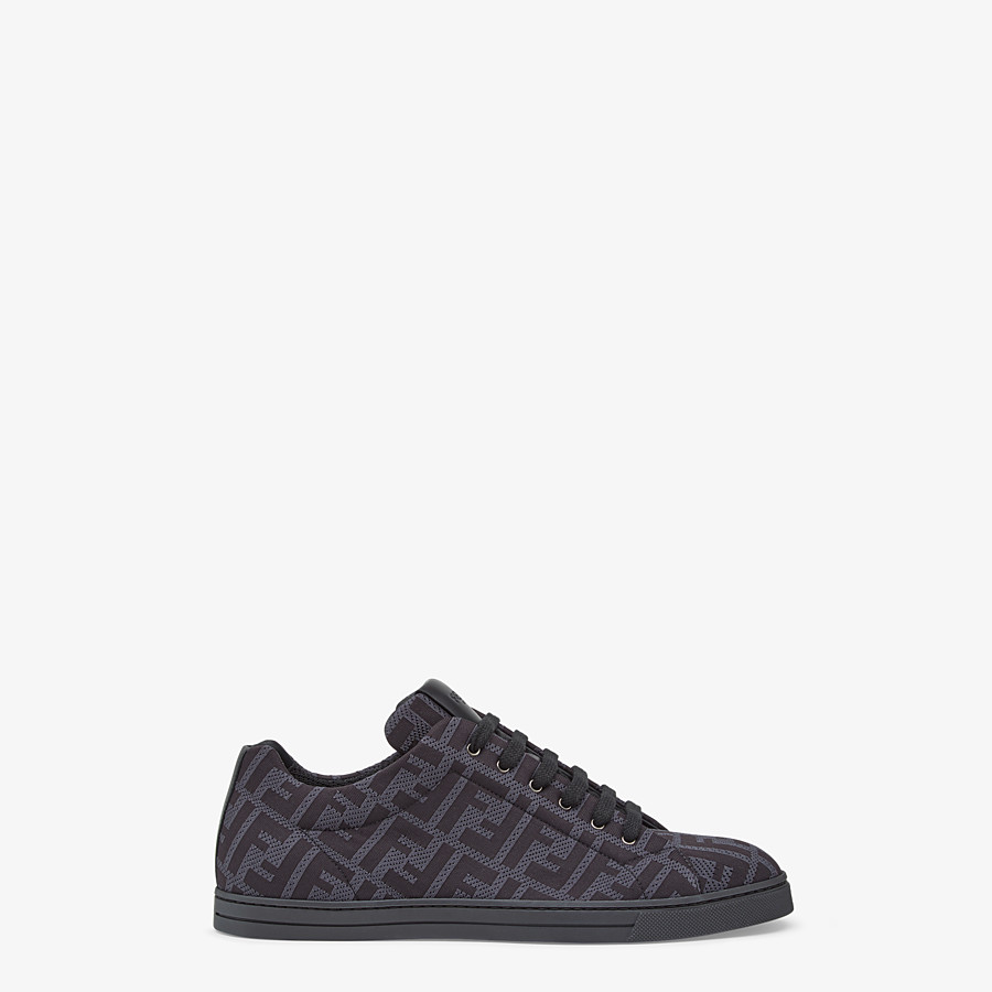 FENDI SNEAKERS - Gray, tech fabric low-top - view 1 detail